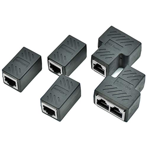 COCOCITY 5 PCS Adaptador RJ45 Cable Red Ethernet Cat6