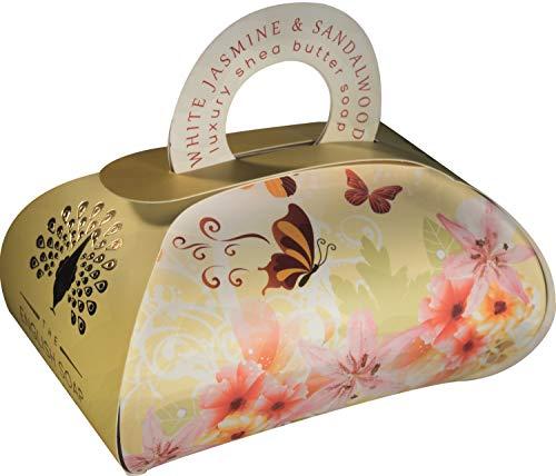 The English Soap Company, Large Gift Bag Bath Soap, White Jasmine and Sandalwood, 260g