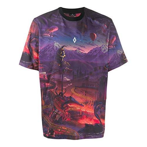 MARCELO BURLON Luxury Fashion Uomo CMAA054F19B490128801 Multicolor Cotone T-Shirt | Autunno-Inverno 19