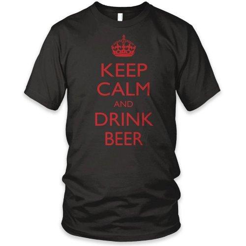 Camiseta mantener la calma y beber cerveza