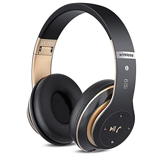 6S Casque Bluetooth sans Fil, écouteurs stéréo sans Fil stéréo Pliables Hi-FI Écouteurs avec Microphone intégré, Micro SD/TF, FM pour iPhone/Samsung/iPad/PC...