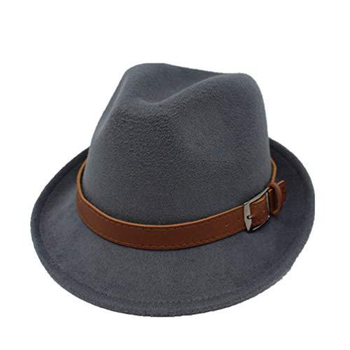 Sombrero de ala Ancha para Hombre Sombreros de Fedora con...