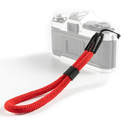 VKO Correa de muñeca para cámara suave, compatible con Fujifilm Instax Mini 90, Mini 9, Wide 300, Mini 26, Mini 8, Mini 70, Square SQ6, Mini 8+, correa de mano, color rojo