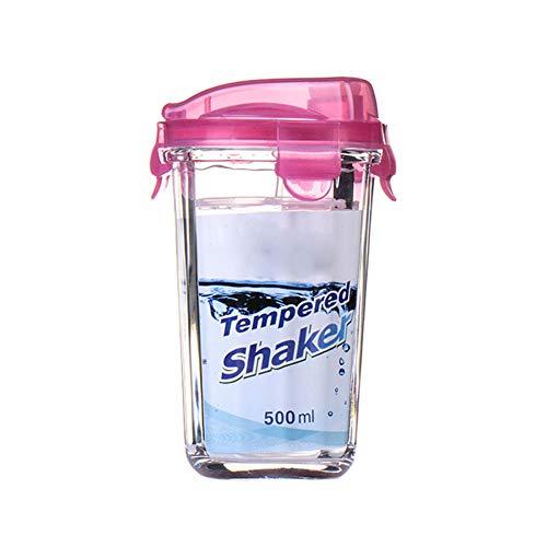 Glazen fles vibrerende zeef Eiwit Shaker Fitness Shake Cup Eiwit poeder schudden sap fles Thermos B