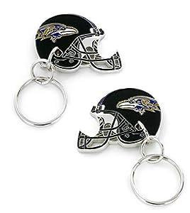 aminco NFL Baltimore Ravens 2-Sided Helmet Bottle Opener Keychain