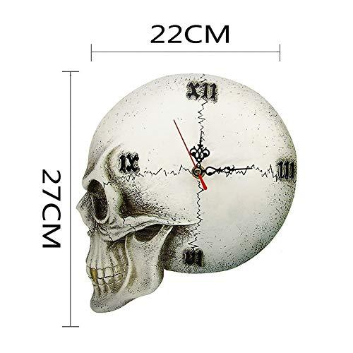 Los números del reloj sin marco Esqueleto gótico del reloj Tempore Mortis bóveda del cráneo del reloj de pared de Halloween decoración del hogar del reloj de pared del reloj espeluznante gótico romano