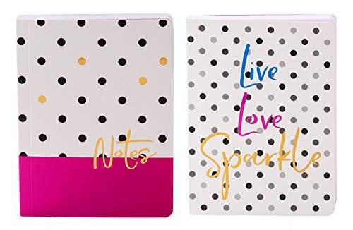 Goldbuch 63, set notitieboekjes A6 Notes und Live Love Sparkle