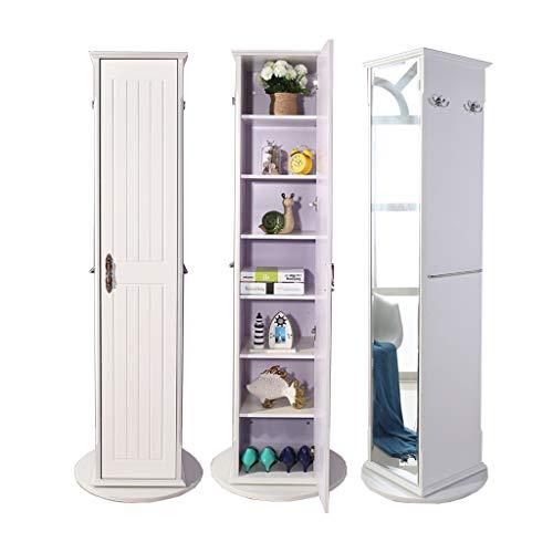 EVEN Soporte para gabinete de joyería de Gran Espacio, gabinete de Almacenamiento de Dormitorio con Espejo Grande