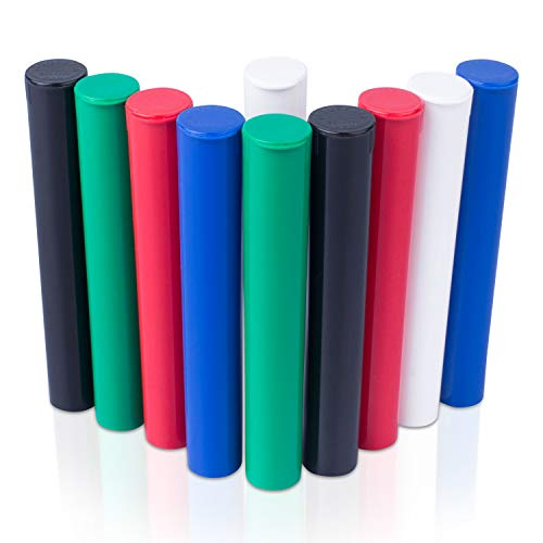 Top Class Ventures Smell Proof Tube Holders - Airtight Storage Case - 4.5' Inch 10 Pack Assorted Colors