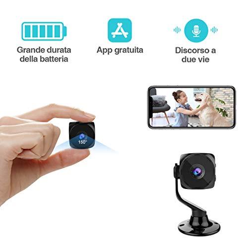 Mini cámara espía WiFi Interior KEAN cámara de vigilancia Oculta Microcámara 1080PHD IP detección de Movimiento portátil Exterior visión Nocturna conversión bidireccional Spy CAM
