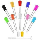 Himetsuya Gotero líquido de 10 piezas, pipetas cuentagotas - 5 ml, transferencia de pipetas de silicona y plástico para dulces, aceite, cocina, moldes para manualidades, fabricación de gomitas