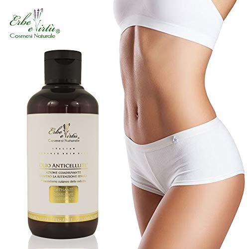 Olio Anticellulite 200 ml - Mix di Preziosi Fitoestratti - Azione Drenante, Tonificante, Riducente - 100% MADE IN ITALY - Trattamento Professionale - SENZA PARABENI, SILICONI, PETROLATI