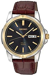 Seiko Men's SNE102 Brown With Blue Dial Watch - see my reviews