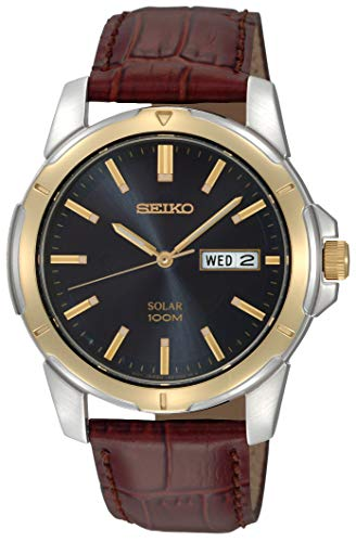Seiko Men's SNE102 Stainless Steel Solar...
