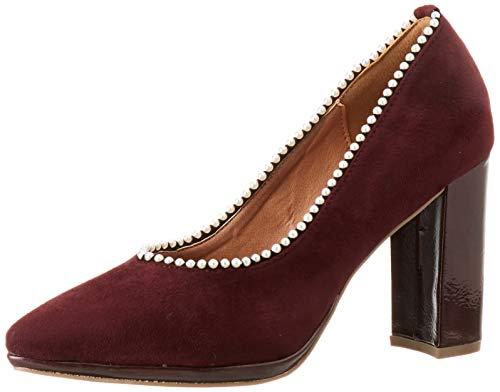 El Caballo Carmona, Zapato de tacón Mujer, Burdeos, 39 EU