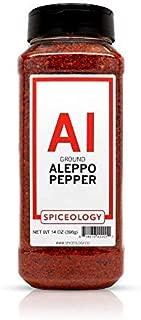 Aleppo Pepper Flakes - Spiceology Dried Ground Aleppo Pepper - 14 ounces