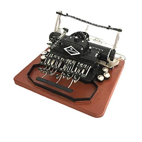 Retro-Schreibmaschine Modell, handgefertigt, Metall, Vintage-Stil, Antik-Markiermaschine, Modell Requisite Geschenk