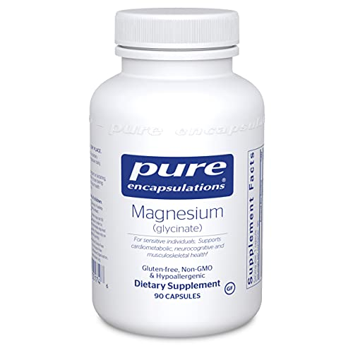 Pure Encapsulations Magnesium (Glycinate) | Supplement to Support Stress Relief, Sleep, Heart Health, Nerves, Muscles, and Metabolism* | 90 Capsules