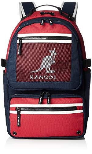 [カンゴール] リュック KANGOLロゴプリント メッシュポケット 軽量 多機能 ポケット多数 PC収納 レッド One Size