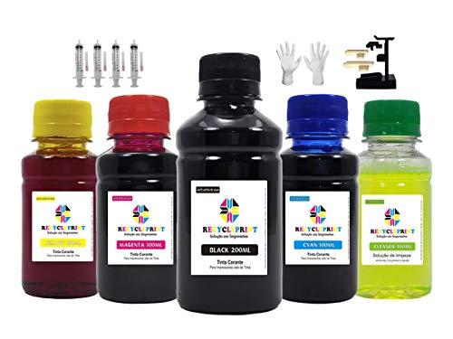 600ml -kit Tinta Compatível Recarga Cartuchos Impressora Hp 74 60 61 122 662 664 667 + Snap Fill