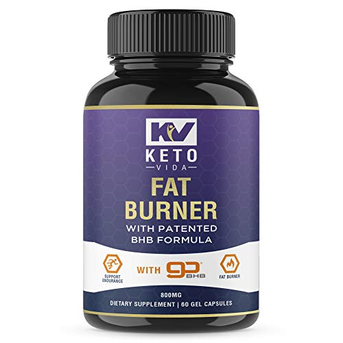 Keto Vida Keto Weight Loss Pills with Patented BHB Exogenous Salts - Weight Loss Pills for Women and Men; 60 Servings