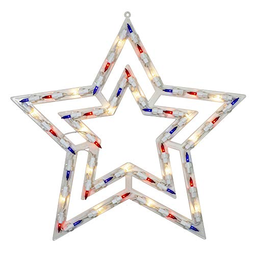 Northlight 17' Lighted Red, White and Blue Patriotic Star Window Silhouette Decoration
