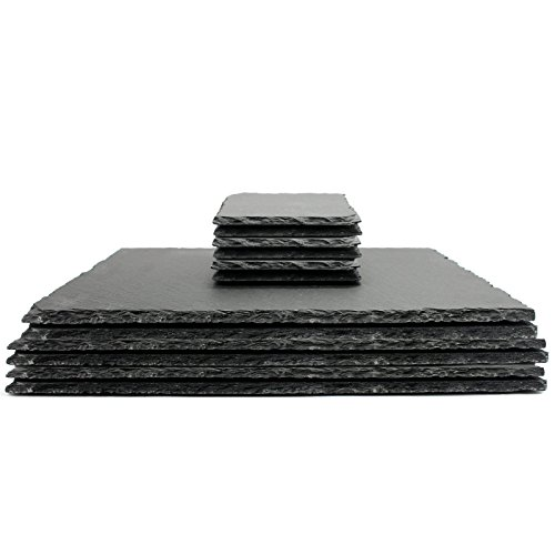 Natural Slate Placemats & Coasters   M&W 12pc