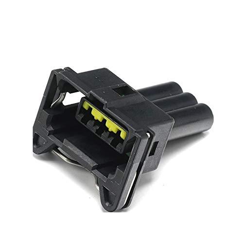 MOUNTAIN MEN Accesorios de sensores 5 x 3 Pin Accesorios for automóviles Vivienda Enchufe Impermeable arnés de cableado Negro Conector 85205-1 by
