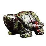 H.Slay Mini estatuilla de Piedra de Tortuga, pecera Realista, estatuas de Tortugas Marinas, Carteles de Paisaje de Acuario, Mesa de figuritas de Fortuna y Suerte Feng Shui