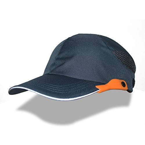 安全ヘルメット 防災用 インナー 作業用ヘルメット 帽子型ヘルメット 頭部保護帽 プロテクターキャップ 内蔵 帽子 通気・簡易・軽量ヘルメット メッシュキャップ 安全帽子 (ネイビー)