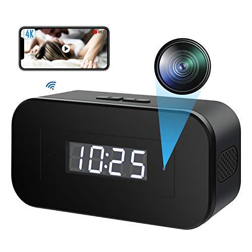 Telecamera Spia Nascosta WiFi, 4K Microcamera Telecamera Nascosta Portable Wireless Per la Sicurezza Domestica Con Visione Notturna Registrazione Video Rilevamento del Movimento di Sorveglianza