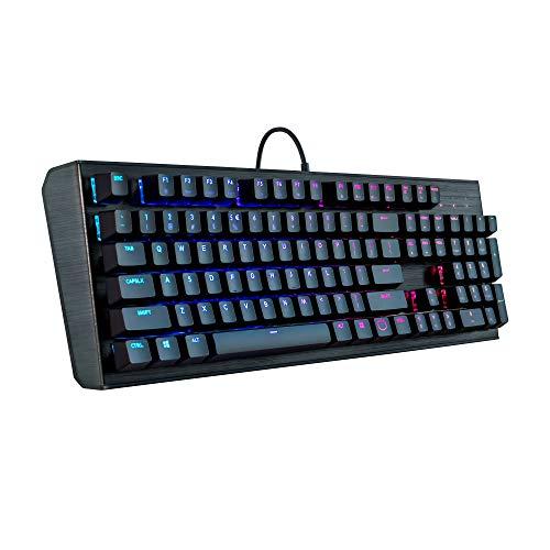 Cooler Master CK552 Gaming Mechanische Tastatur mit Gateron roter Schalter mit RGB-Hintergrundbeleuchtung, Schwarz