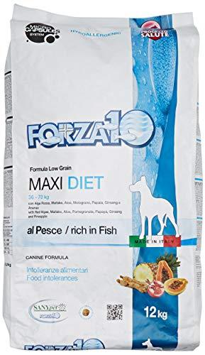 Forza 10 Maxi Diet Pesce Secco Cane kg. 12-Mangimi secchi per Cani crocchette, Multicolore, Unica