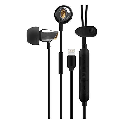 VIOTEK Aqua Stereo Earbuds: Powerful 105dB; Dynamic & Digital Sound (Black)
