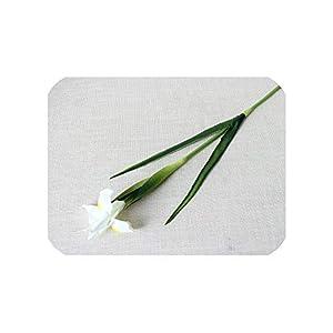 Silk Flower Arrangements Real Touch Pu Ireland Flower Artificial Plant Iris Flowers Arrangement European Home Wedding Festival Decoration Fake Flowers,White