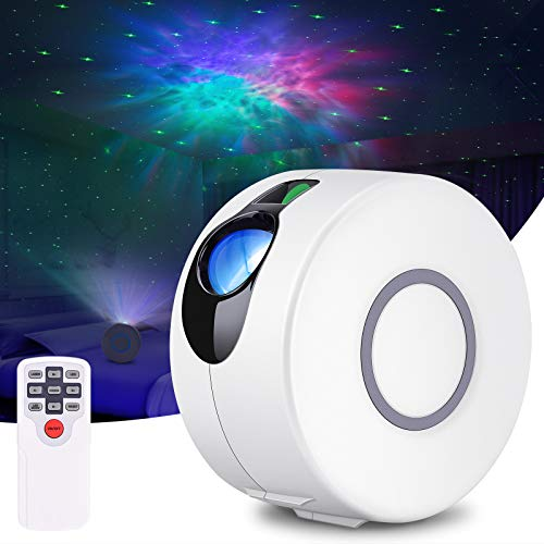 Star Projector, Night Light Projector with Remote Control, Galaxy Projector with LED Nebula Cloud for Bedroom, Game Rooms, Home Theatre (White)