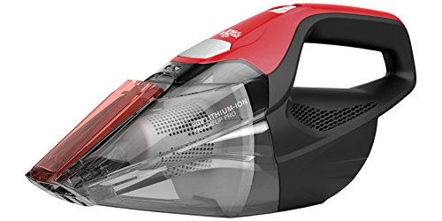 Dirt Devil Plus 16V Quick Flip Pro Cordless 16 Volt Lithium Ion Bagless Handheld Vacuum Cleaner BD30025B, Red