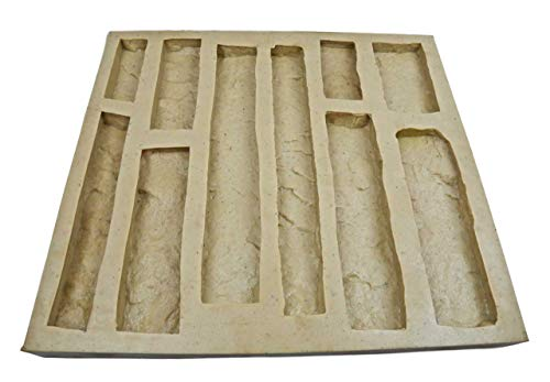Veneer Stone Rubber Mold for Concrete or Plaster,Cliff Stone Flats, 22.75x20.5, Version 4, Recycled Material