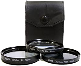 Bower Digital Multicoated 77mm 3 Piece Filter Kit Includes UV,Circular Polarizer, FLD,and Filter Case