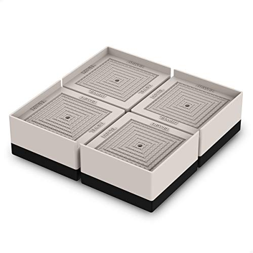DEWEL 洗濯機かさ上げ台 防振ゴム 防滑パッド 重ねて高さ調節 洗濯機 台 冷蔵庫/家電/家具/ソファー/こたつ 底上げ 増高脚 耐加重300KG