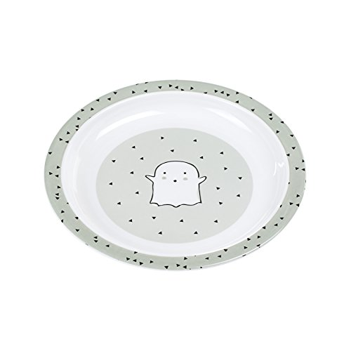 LÄSSIG Kinderteller rutschfest Melamin/Plate Little Spooky Olive