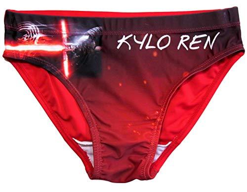 Star Wars Badehose Jungen Kylo Ren (Schwarz-Rot, 140-146)