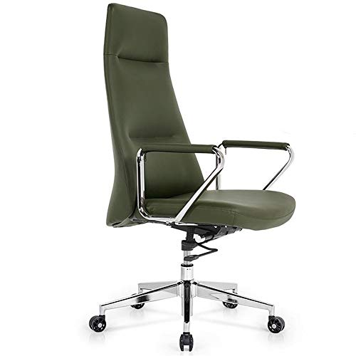 Ergonomic Office Chair Modern Minimalist Backrest Chair Adjustable Desk Chair with Casters Can Rotate Breathable Comfortable (Color : Green, Size : 119x55x56cm)