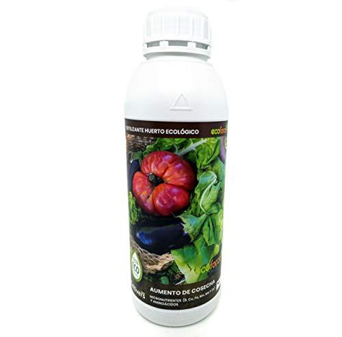 CULTIVERS Fertilizante Líquido para Huerto Ecológico de 1 L. Abono para Hortalizas 100% Orgánico y Natural. Mejor Sabor, Mayor Calidad, Potencia el Crecimiento y Aumenta la Cosecha