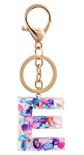 Bijouxmodefashion - Portachiavi gioiello da borsa, lettera in resina e acrilico con...