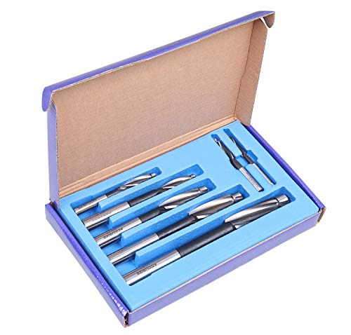 Accusize Industrial Tools 7 Pc Metric Hss Solid Capscrew Counterbore Set, 3 Flute, Straight Shank, 508S-007m
