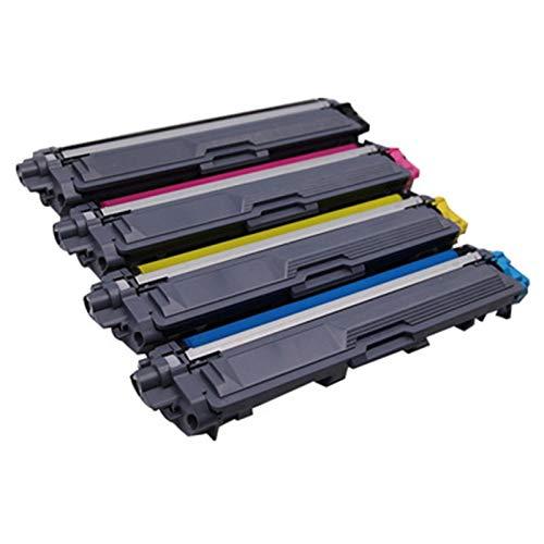 HAUYZ Adecuado para Brother TN241BK TN-241C TN 241m-TN-241Y Cartucho de tóner, Compatible con DCP-9020CDW HL-3140CW HL-3150CW HL-3170CDW MFC-913 Impresora 4 Colors