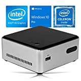 Intel NUC DN2820FYKH Mini PC, Intel Celeron N2820 Upto 2.39GHz, 8GB RAM, 1TB HDD, HDMI, Wi-Fi, Bluetooth, Windows 10 Pro (Renewed)