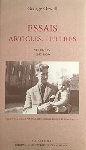 Essais, articles, lettres, volume 4, 1945-1950