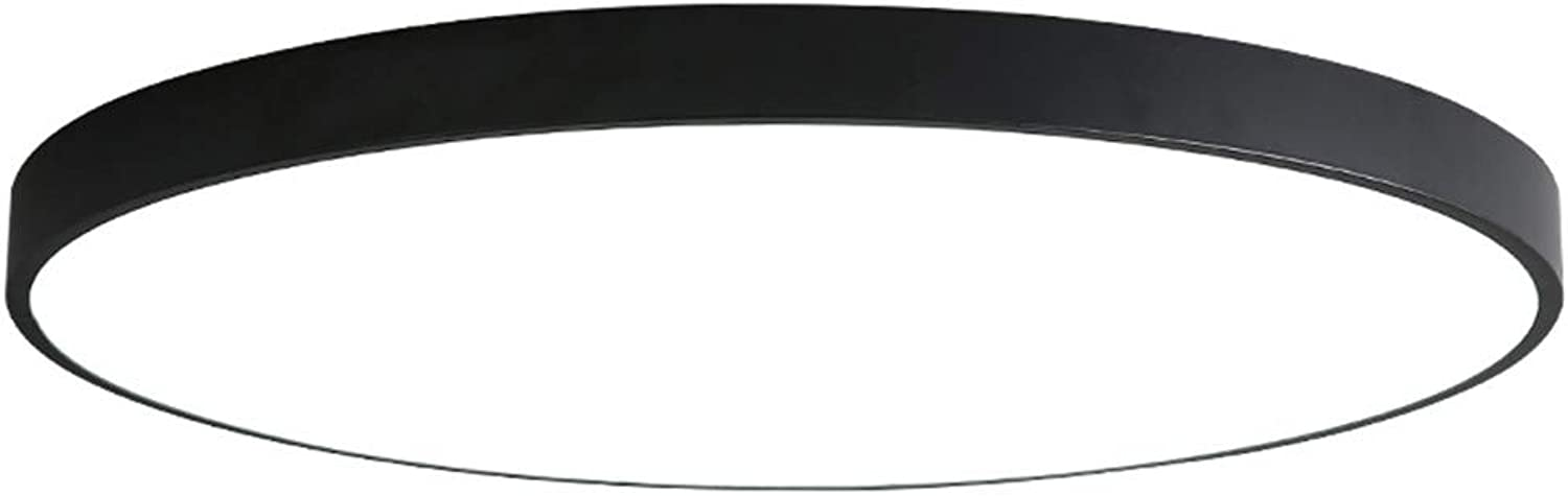 WWDDVH Ultra Thin Circular Led Ceiling Lamp Warm And Romantic Bedroom Lamp Small Living Room Lamp Restaurant Lighting,30Cm Monochrome Weiß 18W